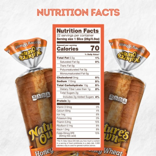 Nature's Own® Honey Wheat Sliced Bread Perspective: bottom