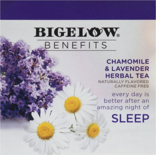 Bigelow Benefits Chamomile & Lavender Herbal Tea K-Cup Pods Perspective: bottom