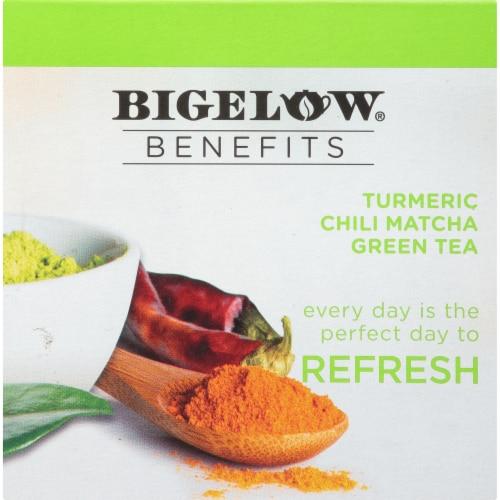 Bigelow Turmeric Chili Matcha Green Tea Herbal Tea K-Cup® Pods Perspective: bottom