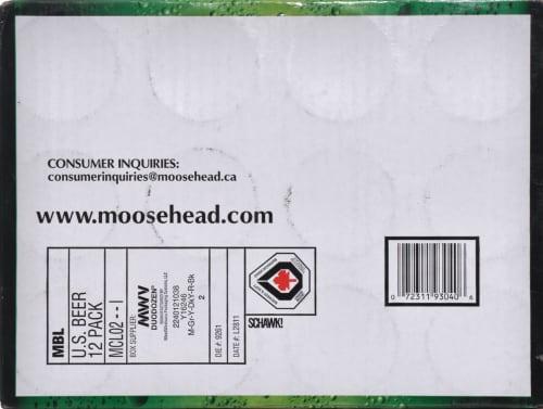 Moosehead Beer Perspective: bottom