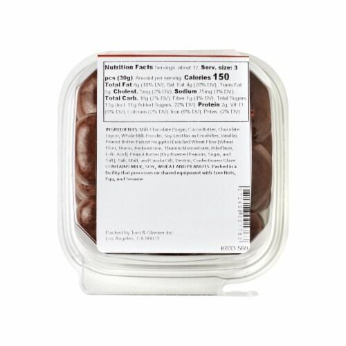 Torn & Glasser Peanut Butter Filled Milk Chocolate Pretzel Nuggets Perspective: bottom