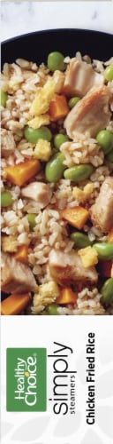 Healthy Choice Cafe Simply Steamers Chicken Fried Rice Frozen Meal Perspective: bottom
