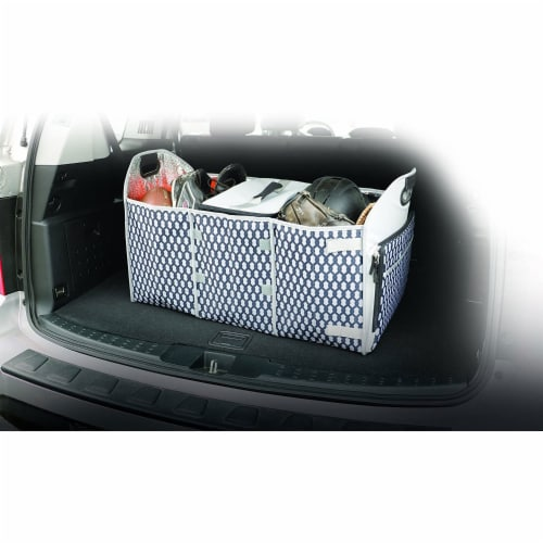 Homz Insulated 3 Section Trunk Organizer Storage Box with Cooler Bag, Gray/Black Perspective: bottom