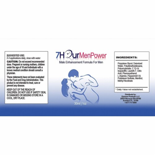 7Hour Men Power and Libido Booster Combo Pack Perspective: bottom