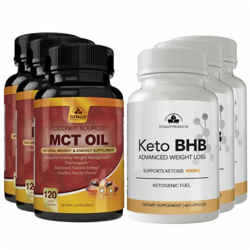 Totally Products Keto Slim BHB & Pure MCT Oil Combo Pack (3sets) Perspective: bottom