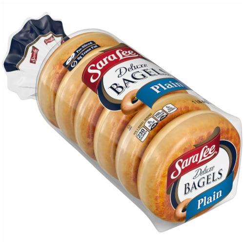 Sara Lee Plain Deluxe Bagels Perspective: bottom
