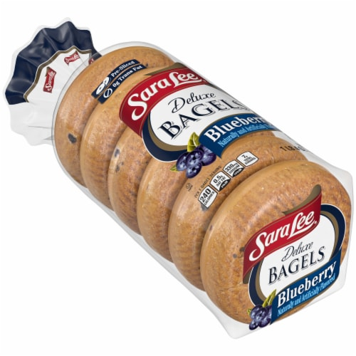 Sara Lee Deluxe Blueberry Bagels Perspective: bottom