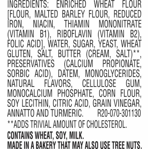 Sara Lee Butter Bread Perspective: bottom