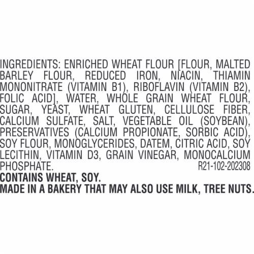 Sara Lee Soft & Smooth Whole Grain White Bread Perspective: bottom