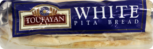 Toufayan Classic White Pita Loaves 6 Count Perspective: bottom