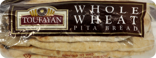 Toufayan Whole Wheat Pita Loaves 6 Count Perspective: bottom