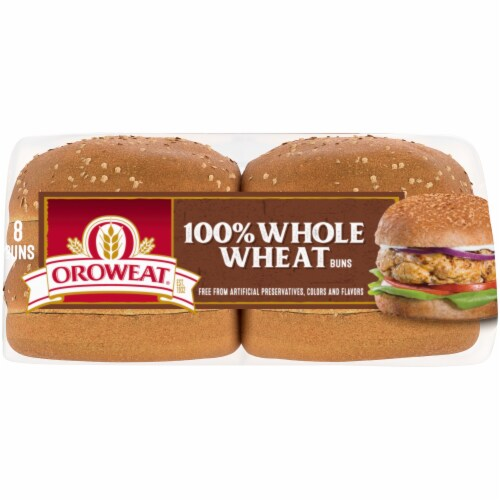 Oroweat Whole Wheat Sandwich Buns 8 Count Perspective: bottom