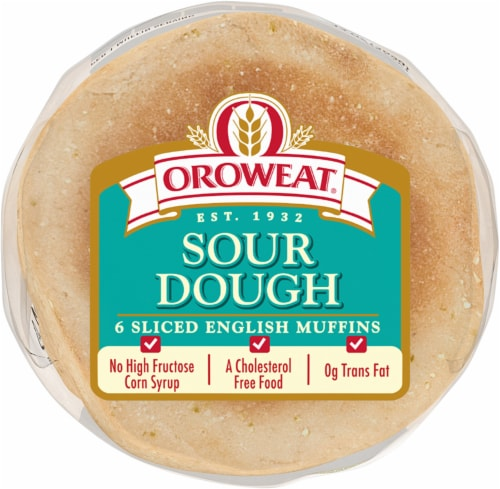 Oroweat Sour Dough English Muffins Perspective: bottom
