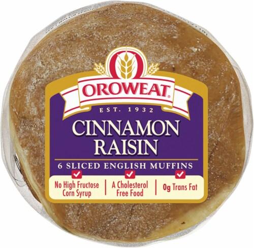 Oroweat Cinnamon Raisin Sliced English Muffins Perspective: bottom
