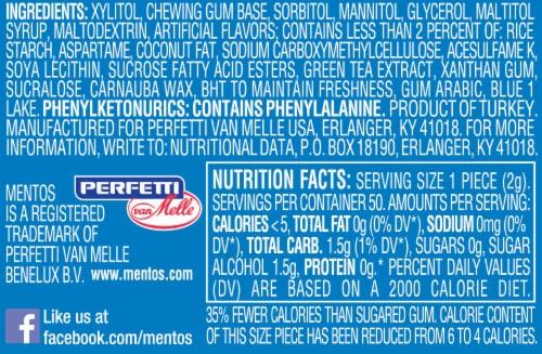 Mentos Pure Fresh Sugar-Free Fresh Mint Chewing Gum Perspective: bottom