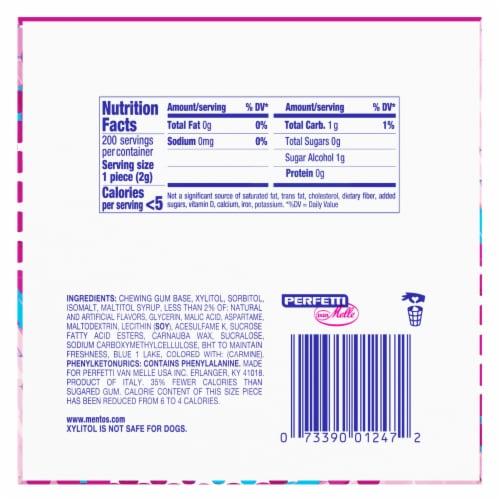 Mentos Bubble Fresh Cotton Candy Sugar-Free Gum Perspective: bottom
