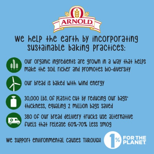 Arnold® Organic 22 Grains & Seeds Bread Perspective: bottom