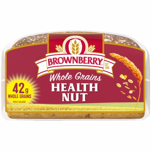 Brownberry Whole Grains Health Nut Bread Perspective: bottom