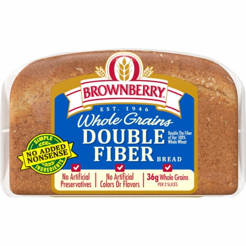 Brownberry Whole Grains Double Fiber Bread Perspective: bottom