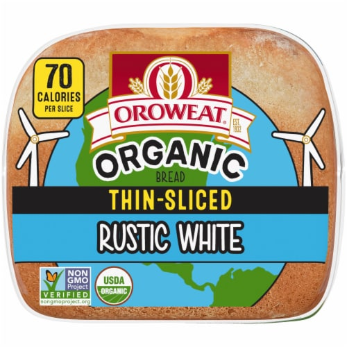 Oroweat® Organic Thin-Sliced Rustic White Bread Perspective: bottom