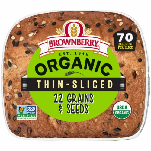 Brownberry® Organic 22 Grains & Seeds Thin Sliced Bread Perspective: bottom