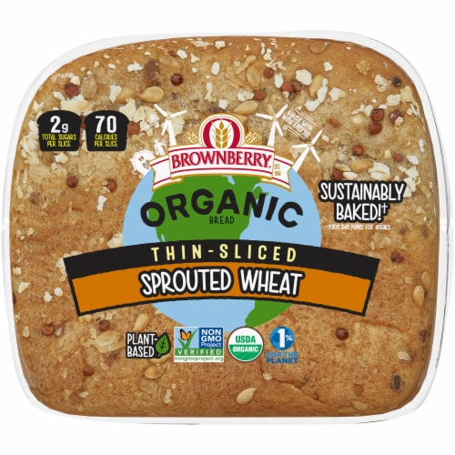 Brownberry® Organic Thin-Sliced Sprouted Wheat Bread Perspective: bottom