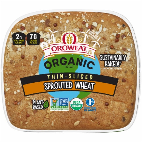 Oroweat Organic Thin-Sliced Sprouted Wheat Bread Perspective: bottom