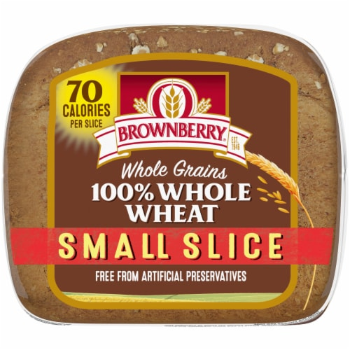 Brownberry Small Slice 100% Whole Wheat Bread Perspective: bottom