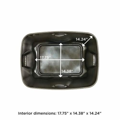 Homz 6618BKTS.08 18 Gallon Durable Molded Plastic Storage Bin w/ Lid, Black/Gray Perspective: bottom