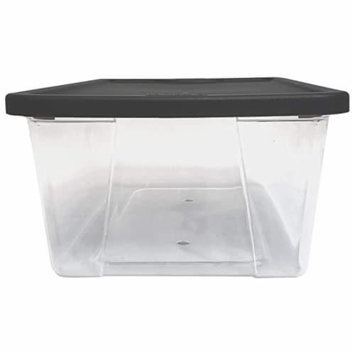 Homz Snaplock 6 Quart Clear Organizer Storage Container Bin with Lid (10 Pack) Perspective: bottom