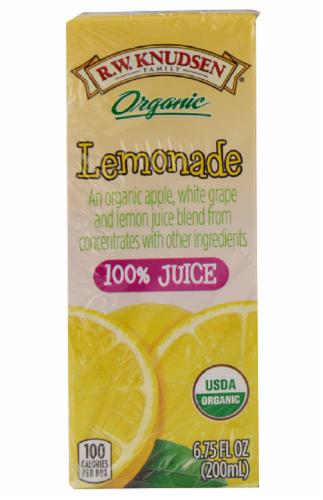 R.W. Knudsen Organic Lemonade Juice Box Perspective: bottom