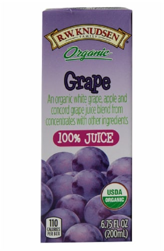 R.W. Knudsen Organic Grape Juice Boxes Perspective: bottom