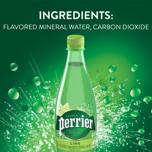 Perrier Lime Flavored Carbonated Mineral Water Perspective: bottom