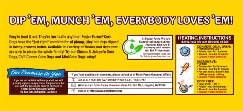 Foster Farms® Honey Crunchy Corn Dogs Perspective: bottom