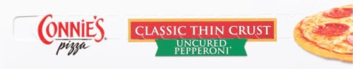 Connie's Uncured Pepperoni Classic Thin Crust Pizza Perspective: bottom