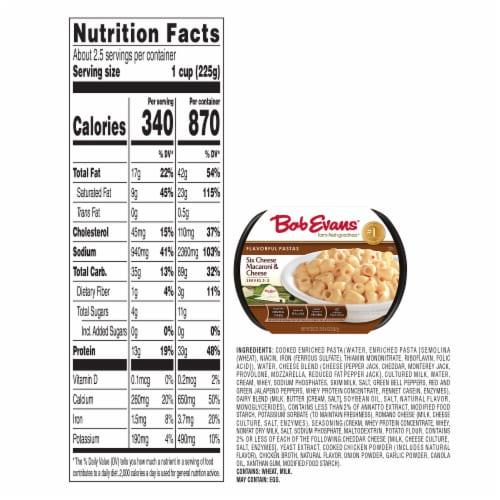 Bob Evans® Six Cheese Macaroni & Cheese Perspective: bottom