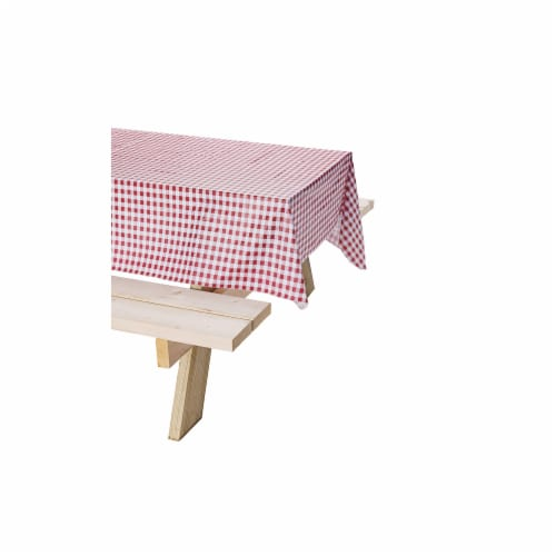 Coleman Vinyl Tablecloth - Red/White Perspective: bottom