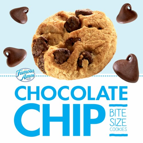 Famous Amos Chocolate Chip Bite Size Cookies Perspective: bottom