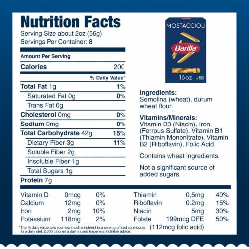 Barilla® Mostaccioli Pasta Perspective: bottom