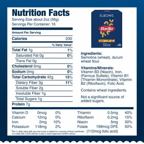 Barilla Elbows Pasta Perspective: bottom
