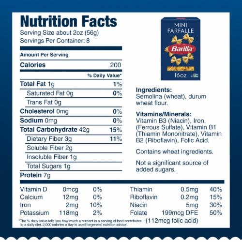 Barilla® Pasta Mini Farfalle Perspective: bottom