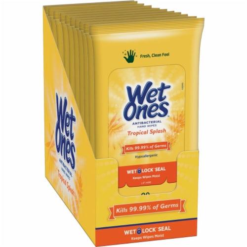Wet Ones Citrus Antibacterial Hand Wipes Travel Pack Perspective: bottom