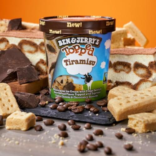 Ben & Jerry's Topped Tiramisu Ice Cream Perspective: bottom
