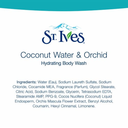 St. Ives Coconut Water & Orchid Hydrating Body Wash Perspective: bottom