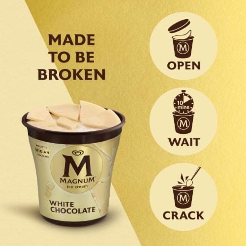 Magnum White Chocolate Vanilla Ice Cream Perspective: bottom