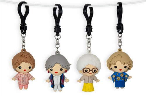 The Golden Girls 4-Piece Foam Figural Backpack Clip Figure Box Set Toynk Exclusive Perspective: bottom