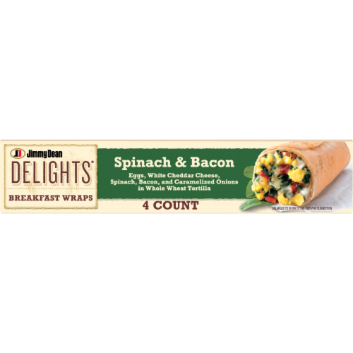 Jimmy Dean Delights Spinach & Bacon Breakfast Wraps Perspective: bottom