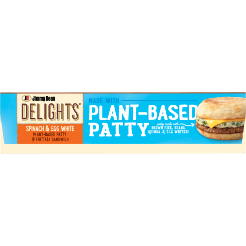 Jimmy Dean Delights® Spinach & Egg White Plant Based Patty & Frittata Sandwich Perspective: bottom