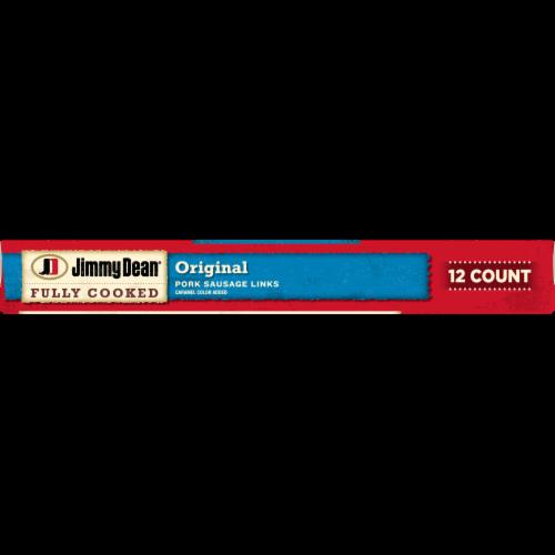Jimmy Dean Fully Cooked Original Pork Sausage Links Perspective: bottom