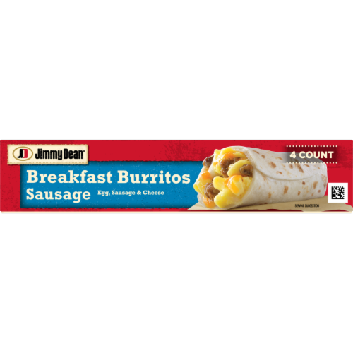 Jimmy Dean Sausage Egg & Cheese Breakfast Burritos Perspective: bottom